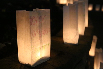 "Luminary saying ""never forgotten."""