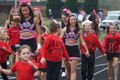 Kids from BSCT cheered alongside the GWU cheerleaders throughout the entire game.