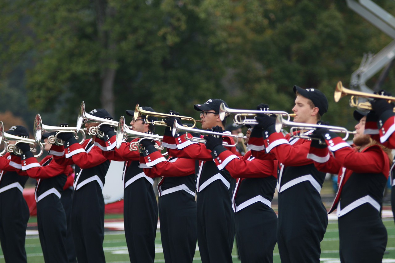 At the start of Saturday's football game against Charleston Southern the GWU Marching Band played the National Anthem.