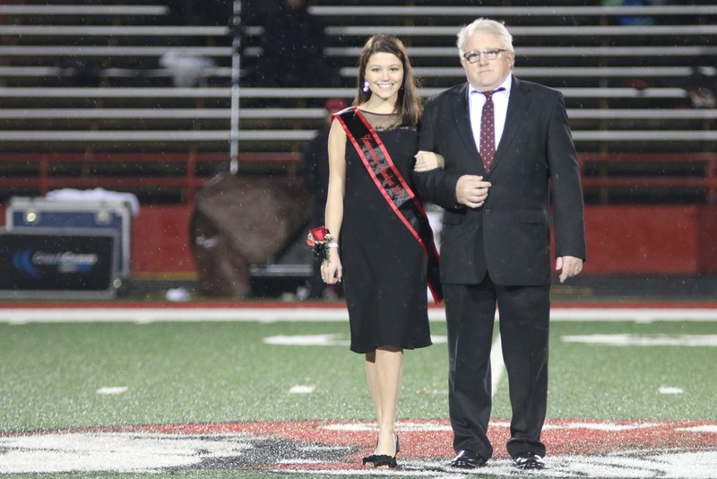 Students were crowned Freshman, Sophomore & Junior Representative. Merideth Byl was crowned Homecoming Queen. And two male students were crowned Homecoming Prince & King during Halftime at the game.