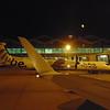 Flybe Bombardier Dash-8 Q400 G-ECOC at Birmingham Airport.
