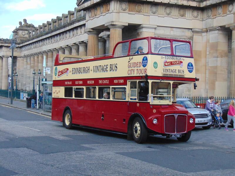 Edinburgh Mac Tours Vintage Bus AEC Routemaster JSJ748 ERM80.