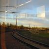 Approaching Edinburgh Airport by tram.