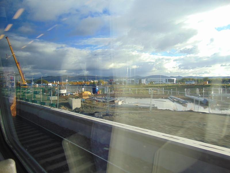 Edinburgh Gateway station under construction.