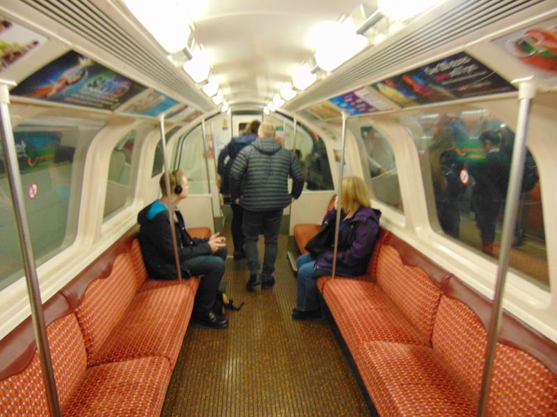 Glasgow Subway train interior.