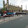The Edinburgh Trams stop at York Place.