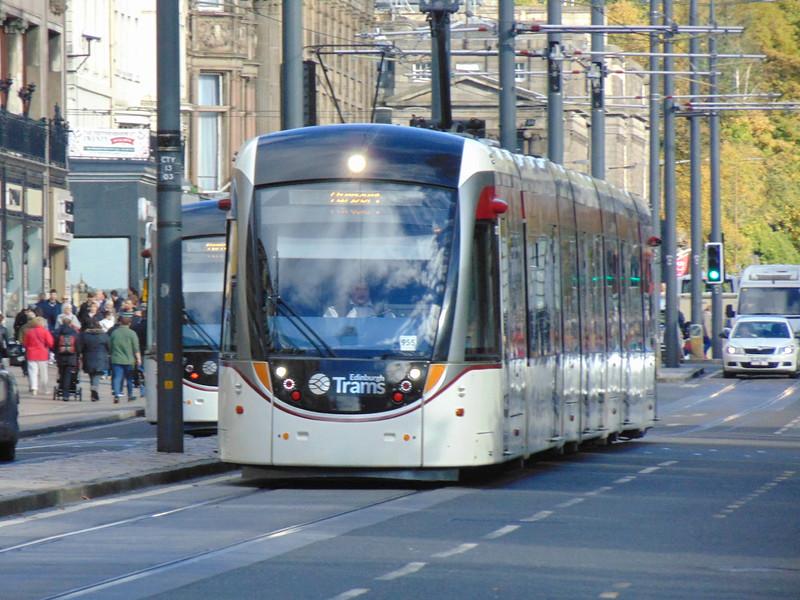 Edinburgh Trams CAF Urbos 3 no. 955 on Princes Street.