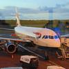 British Airways Airbus A319 G-DBCF at Edinburgh Airport on a flight to London Gatwick.