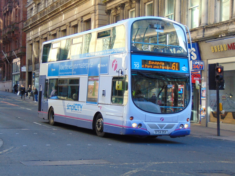 First Volvo Wright Eclipse Gemini SF54OSX 32557 in Glasgow on the 61 to Sandyhills.