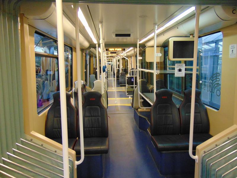 Edinburgh Trams CAF Urbos 3 interior.