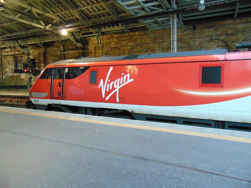 Virgin East Coast Class 91 no. 91131 at Edinburgh Waverley on a Kings Cross express.