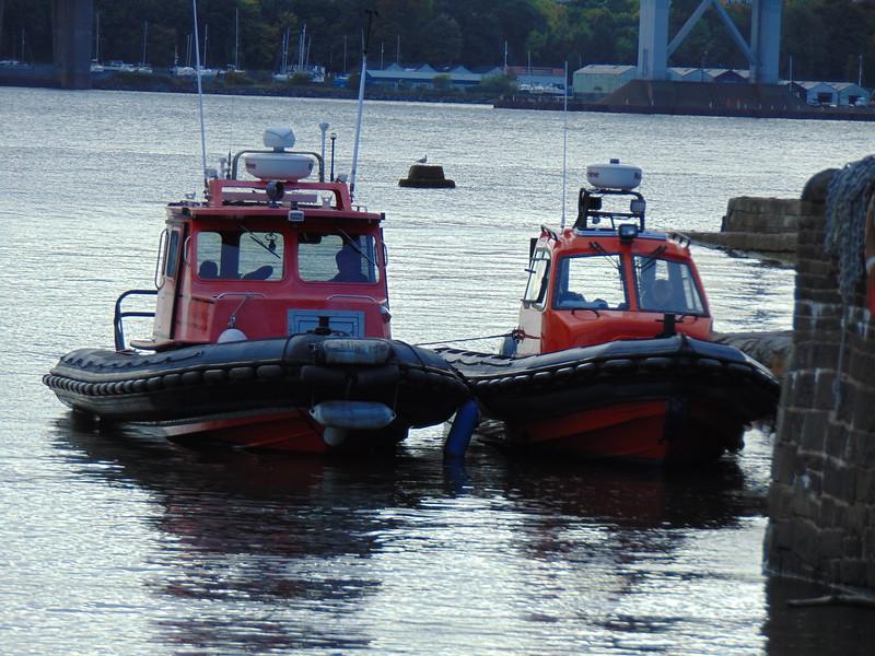 Coastguard boats at North Queensferry.