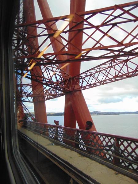 Crossing the Forth Rail Bridge.