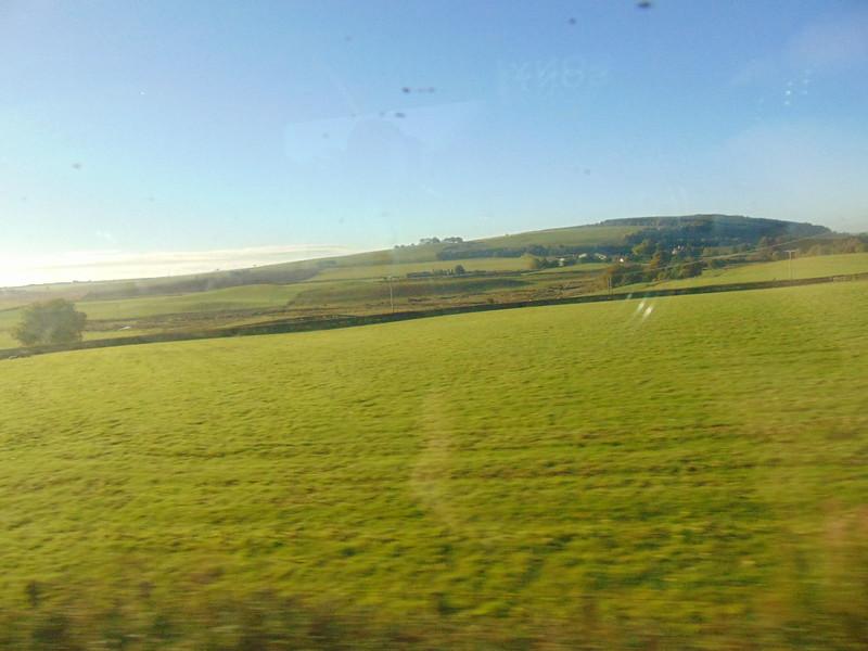 Travelling through the Scottish lowlands towards Glasgow.