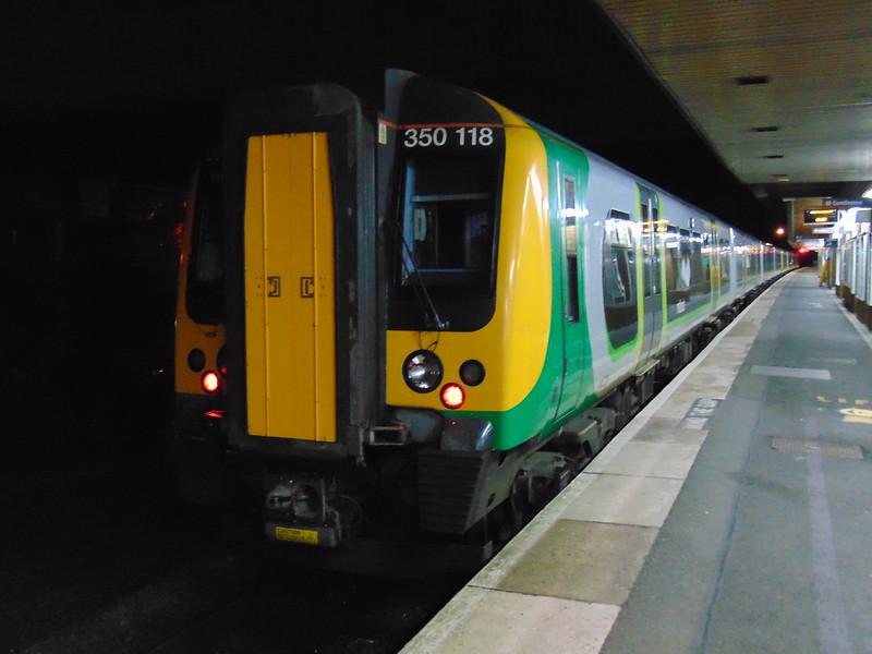 London Midland Class 350 Desiro no. 350118 at Birmingham International.