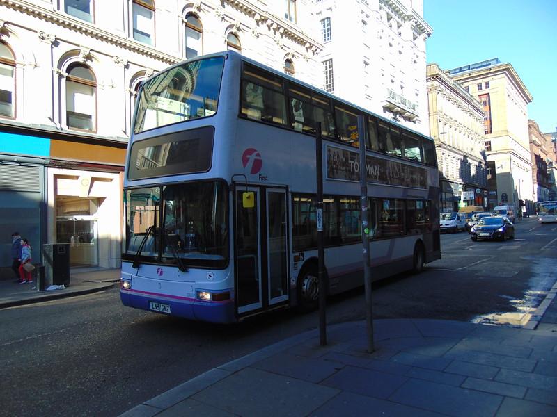 First Dennis Trident Plaxton President LN51GNZ 33097 in Glasgow.