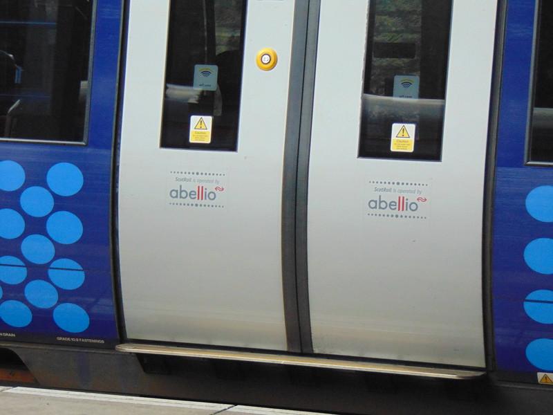 Abellio branding on ScotRail Class 170 Turbostar no. 170474 at Edinburgh Waverley.