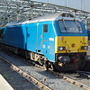 DB Schenker class 67 no. 67003 in Arriva colours at Edinburgh Waverley.