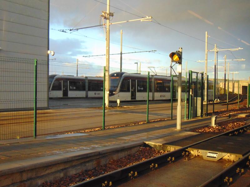Edinburgh Trams' Gogar depot.