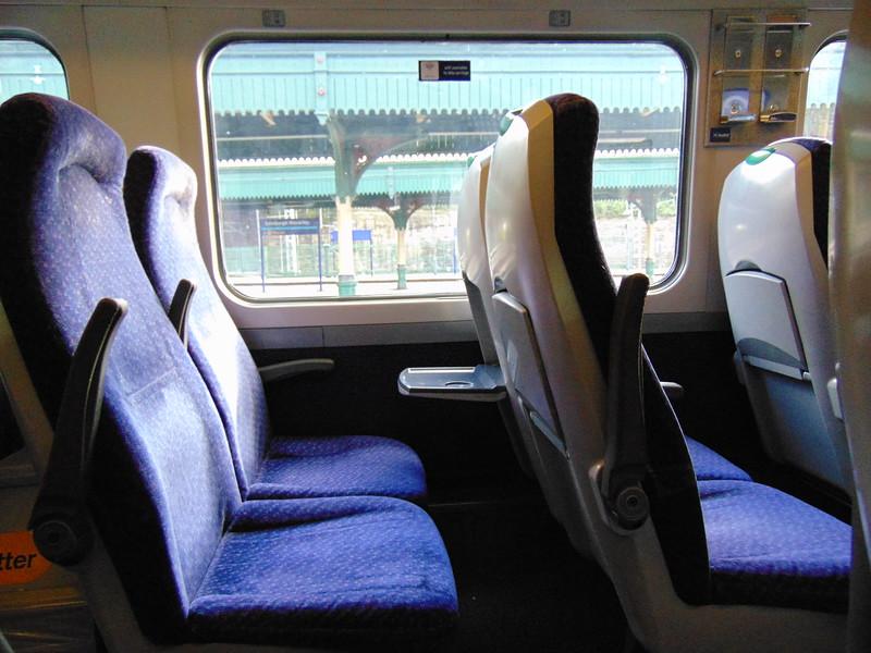 Abellio ScotRail Class 158 Express Sprinter no. 158728 interior at Edinburgh Waverley.