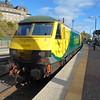 Freightliner Class 90 no. 90042 at Edinburgh Waverley.