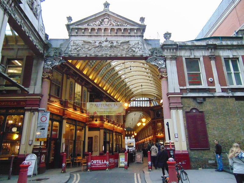 Leadenhall Market in the City of London.