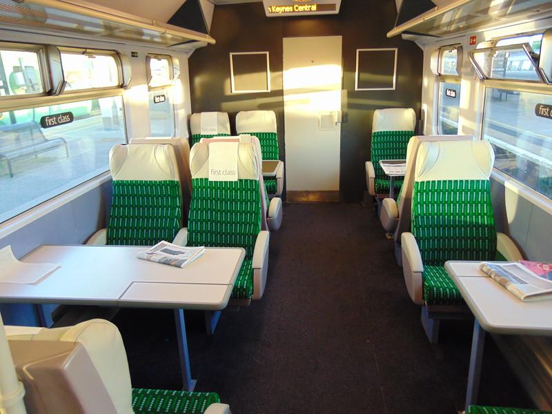 London Midland Class 319 no. 319429 interior on the 17:05 London Euston to Milton Keynes Central.