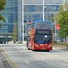 Stagecoach Unibus Enviro 400 KX12GXC 10034 backdropped by the Network Rail HQ.