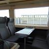 Chiltern Railways Class 168 Clubman no. 168001 interior at Oxford Parkway on a Marylebone service.