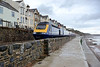27 October 2015 :: The re-opened sea wall path at Dawlish is seen as 43037 passes on 1C76 the 0906 from Paddington to Plymouth