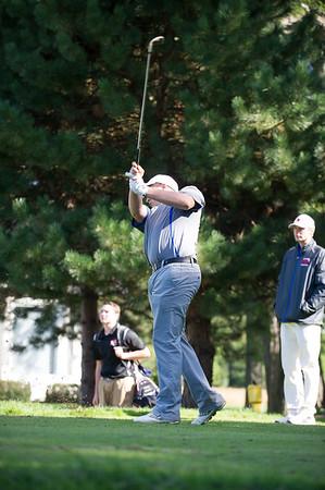 JOED VIERA/STAFF PHOTOGRAPHER-Newfane, NY-Jonathan Costanzo a Newfane Junior swings at Willowbrook Golf Club.