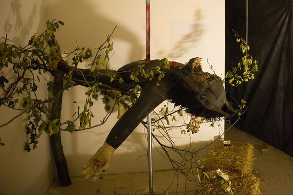 JOED VIERA/STAFF Lockport, NY- A scene inside the Celtic Halloween Haunted House.