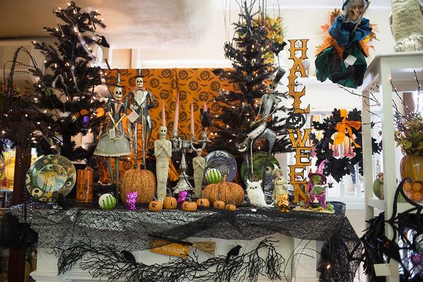 JOED VIERA/STAFF PHOTOGRAPHER-Lockport, NY- Halloween decorations fill Goulds Flower Shop.