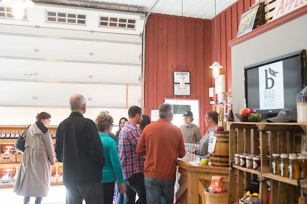 JOED VIERA/STAFF PHOTOGRAPHER-Barker, NY- A group visits Blackbird Cider Works.