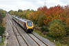 28 October 2015 :: A Cross Country voyager is passing the autumn colours at Worle Junction with 1V52, the 0601 from Glasgow Central to Plymouth