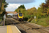 20 October 2015 :: Autumn tints in the sun at Radley along with train 1O18, the 1227 Manchester Piccadilly to Bournemouth