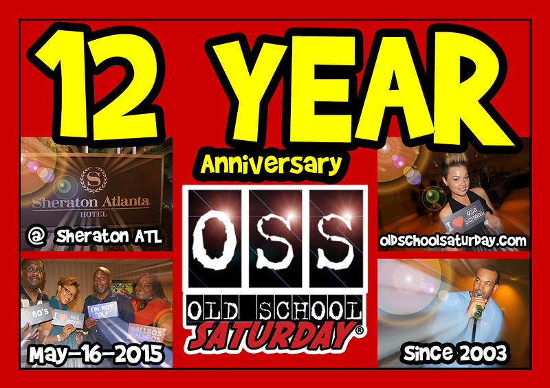 "Thank you for TWELVE YEARS of passionate support, Old School Nation.  Join us as we celebrate ""our birthday"" at The Sheraton May.16.2015.  Tickets, VIP Tables, and more info:   <a href=""http://www.oldschoolsaturday.com"">http://www.oldschoolsaturday.com</a>"