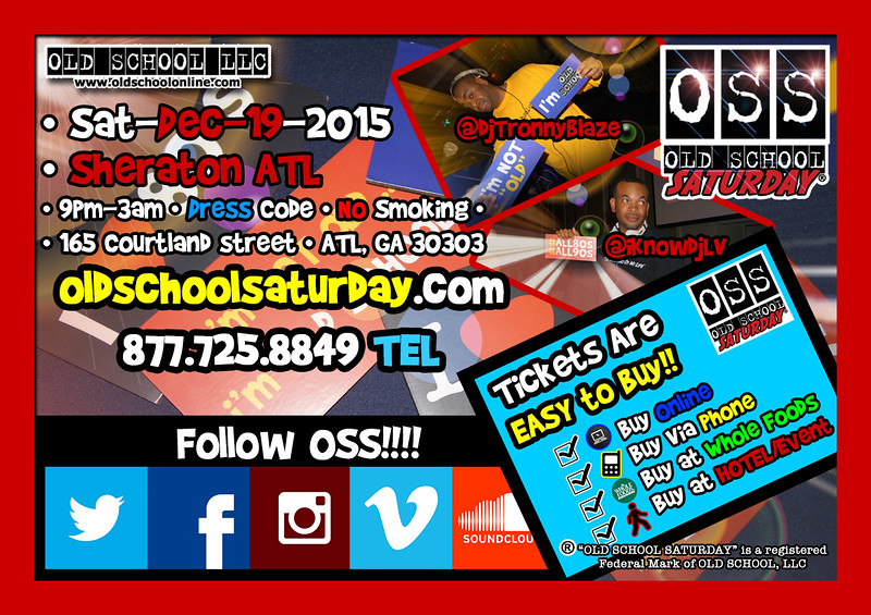 The Holiday Event --> Dec.19.2015 at The Sheraton.  For info and tickets:  www.oldschoolsaturday.com