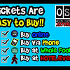 "We make it CRAZY EASY to buy tickets with a variety of options:   <a href=""http://www.oldschoolsaturday.com/tickets"">http://www.oldschoolsaturday.com/tickets</a> or 877.725.8849"