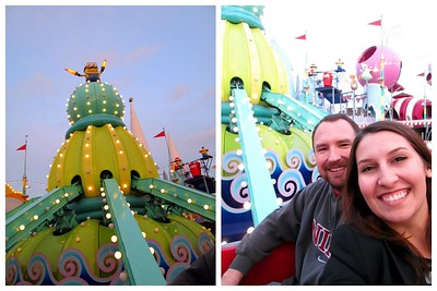 Enjoying a Kiddie Ride at Super Silly Fun Land at Universal Studios Hollywood