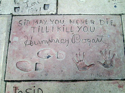 Prints of Humphrey Bogart at Grauman's Chinese Theater in Hollywood