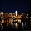 Loews Portofino Bay Hotel Lit Up for the Evening