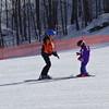 Peyton has a ski lesson- a natural athlete of course.