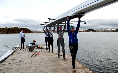 Firer til båthallen