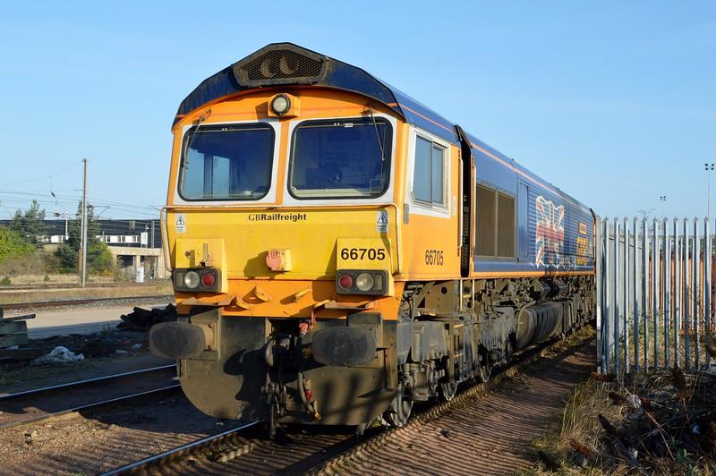 66705 'Golden Jubilee' at Peterborough GBRF Depot   06/04/15