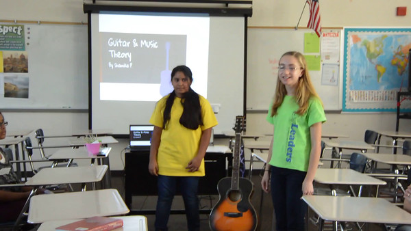 Shamika presented Music and Guitar theory along with a demo of her singing and strumming
