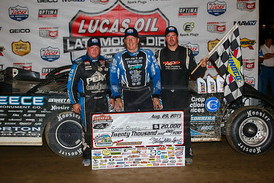 Don O'Neal (L), Scott Bloomquist (C) and Jonathan Davenport (R)