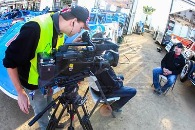 Jonathan Davenport being interviewed by MavTv