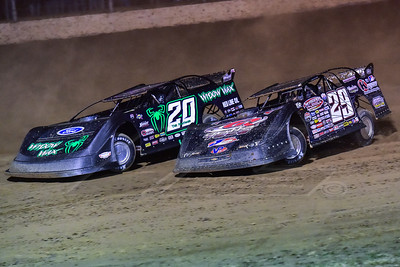 Jimmy Owens (20) and Darrell Lanigan (29)