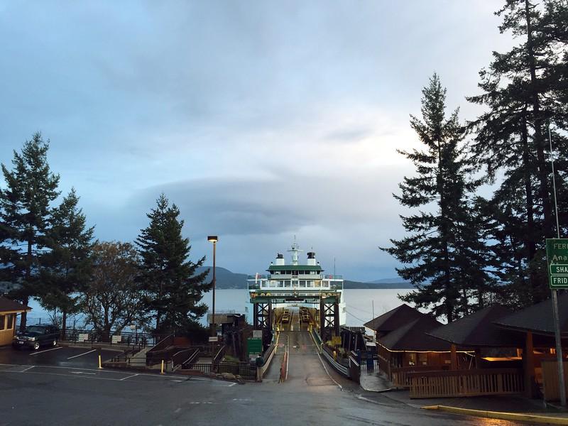<b>Lopez Island Ferry Terminal</b> <br>Lopez Island, WA <br>November 1, 2015